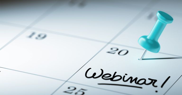 Live webinar schedule - save the date